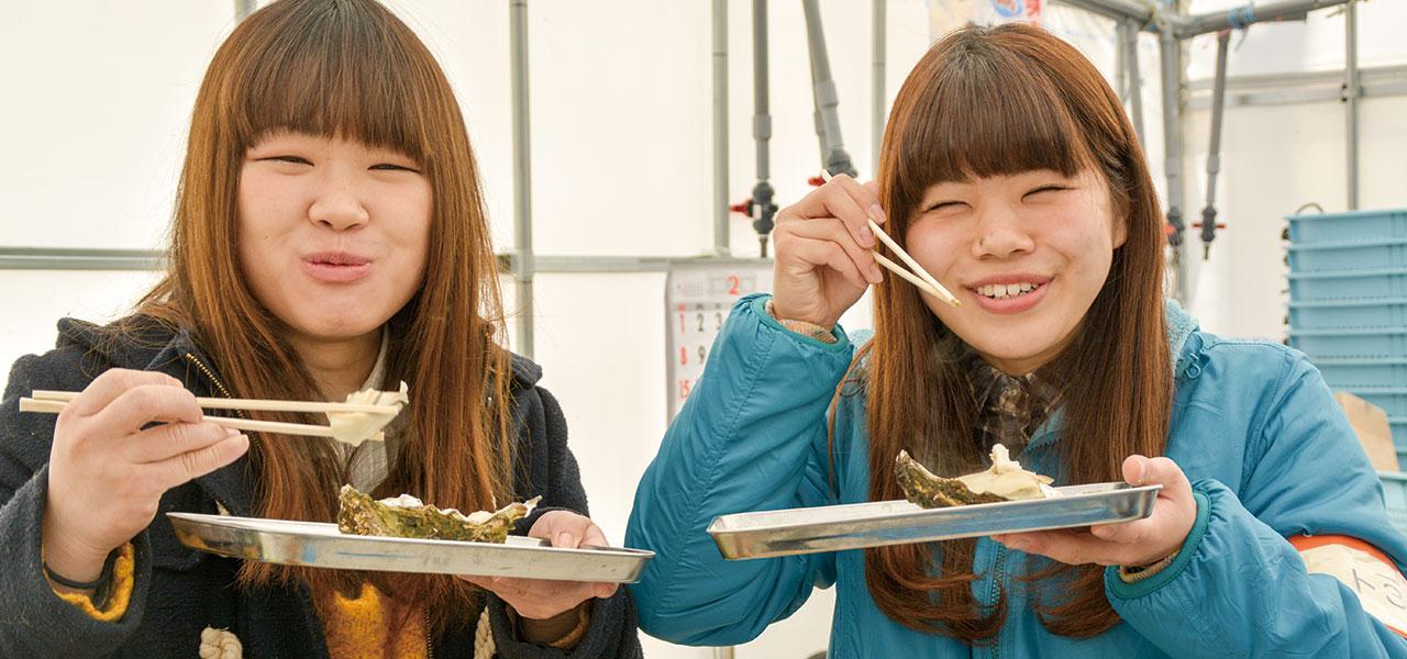牡蠣の試食