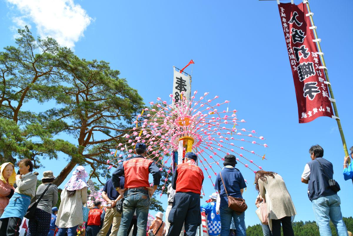 入谷八幡神社例大祭 一本松